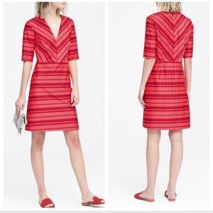 Banana Republic Fit & Flair Striped Dress